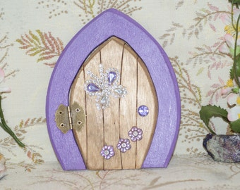 Fairy Door.Lavender Frame with Butterfly