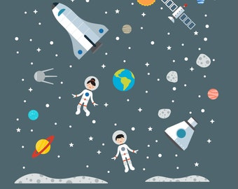 Space Explorer Decal, Space Explorer, Space Wall Decal - Large