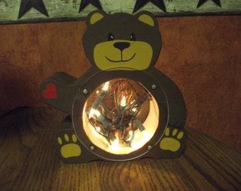 Teddy Bear night light, battery power 2 C batteries