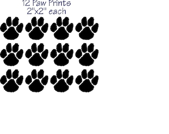 Dog Cat Paw Prints Vinyl Sticker Decal Window Car Made in the USA