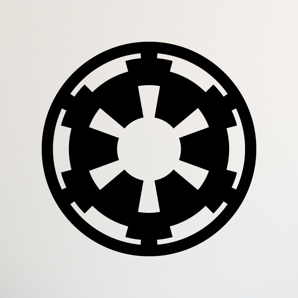 star wars galactic empire decal star wars decal star wars decor star wars - Star Wars Decorations