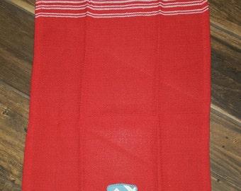 Double cross appliqued Tea Towel.