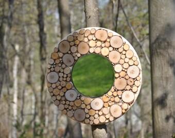 Round logs mirror