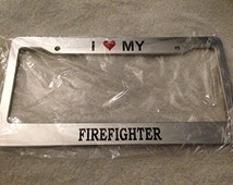 Unique Firefighter Frame Related Items Etsy