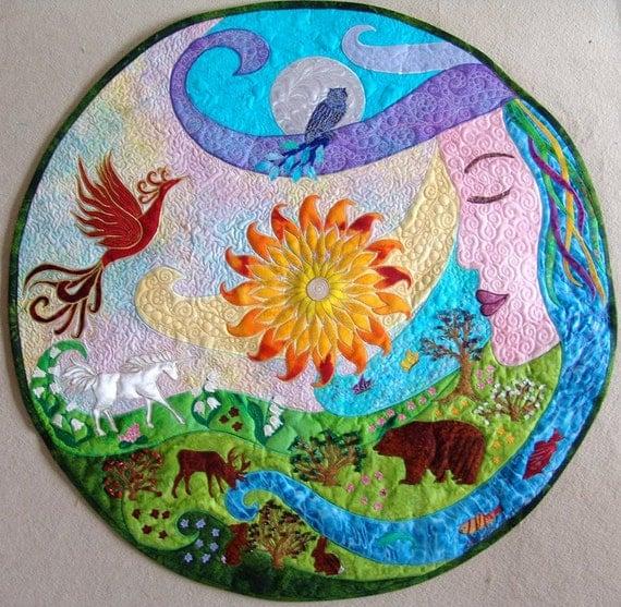 Items Similar To Mandala,horoscope,quilt,art,spiritual