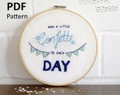 Wall art embroidery pattern, PDF pattern, instant download, lettering art, quote hand embroidery, hoop art