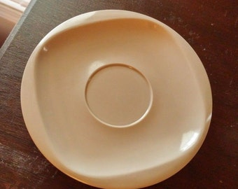Three Vintage Melamine Melmac Boontonware Somerset Brown Saucer