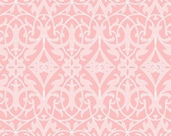 Sweet Harmony Pink Floral Damask by Amy Hamberlin of Kati Cupcake Pattern - Henry Glass -1/2 yard