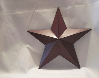 Tin Wall Star - Barn Red