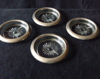 Vintage Silver Platted Coasters Set of 4