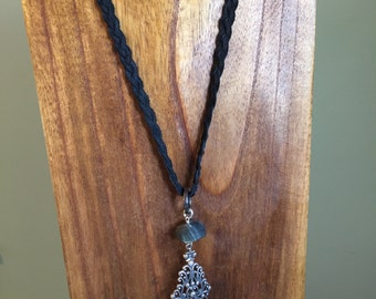 Boho long necklace.