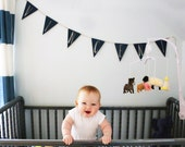 Bunting Name Sign - Personalized Nursery Decor - Custom Banner Name Sign - Baby Room Decor - Personalized Painted Wood Name Sign for Nursery