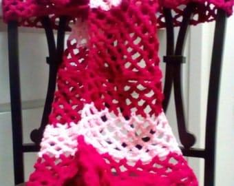 Crocheted diamond shape scarf and Head band