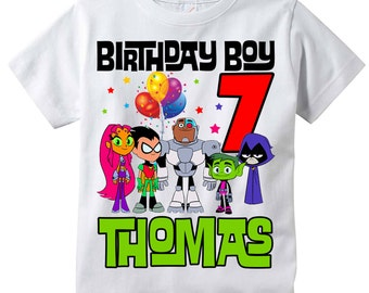 Teen Titans Go! Personalized Birthday Shirt