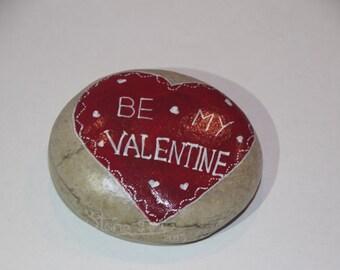 be my valentine pebble