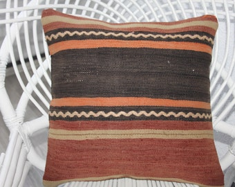Decorative Pillows 16x16 Turkish Kilim Rug Pillow Cover Faded Kilim Pillow Cover 16x16 Cushion Covers Vintage Turkish Kilim Pillowcase 110