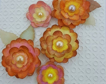 5 Flower Embellishments for Scrapbooks and Card Making.