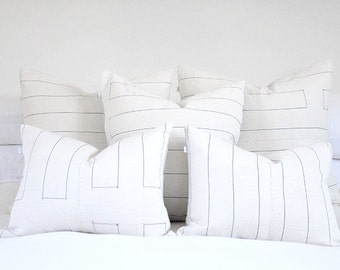 """Rectangle Stitched Canvas Pillow Covers 