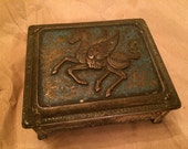 Small Metal Pegasus Jewelry Box - As Is
