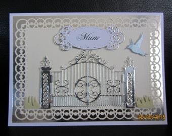 Handmade 3D card filigree Birthday card
