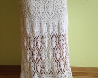 handmade crochet floor length skirt