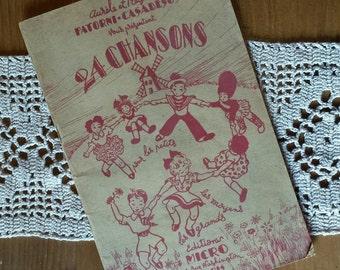 Collection sheet music Aurelius and Regina Patorni-Casadesus present 24 vintage songs