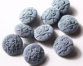 14 buttons 28mm, grey polyester rod (8150)