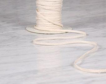 10 m of Ribbon 5mm, viscose, white broken (0077)