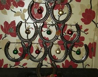 Three tier Lucky horseshoe Christmas tree