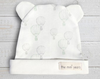 Organic Baby Hat Up Balloon Green