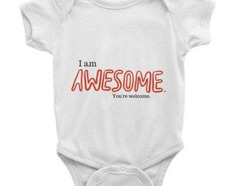 Funny Baby onesie, Infant printed onesie
