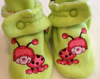 cute ladybug booties