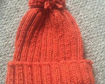 Winter Hand Knitted Hat (Adult)