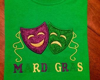 Kids Mardi Gras Shirts Embroidered