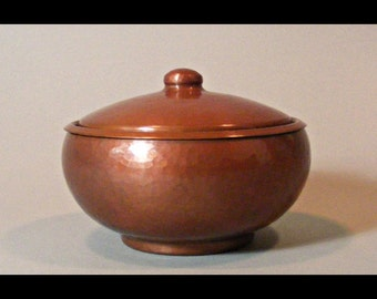 Arts & Crafts  Style Hand Hammered Copper Box