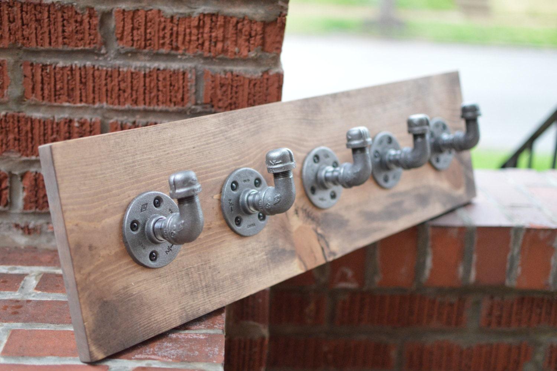 Industrial Coat Rack Rustic Pipe Towel Rack Jewelry