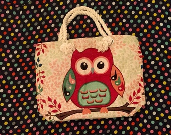 Owl Tote/ Owl Bag