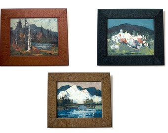 Mary Bryant Set of 3 Oil on Canvas Landscape Scenes