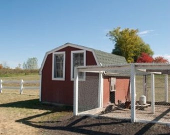 Build your own 8' X 16' Chicken Coop (DIY Plans) Fun to build! Save Money!