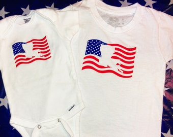 ON SALE. State American Flag Bodysuits and Tees. USA Tees & Bodysuits.