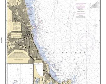 2006 Nautical Map of Chicago Lake Front Lake Michigan