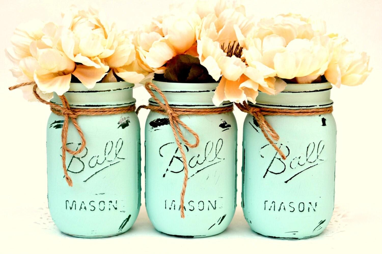mint mason jars mason jar decor mason jars bulk painted. Black Bedroom Furniture Sets. Home Design Ideas
