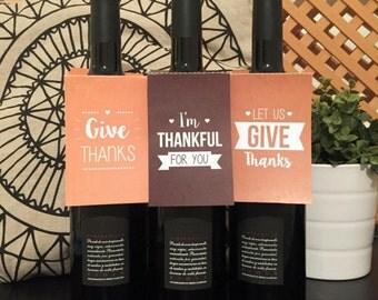 Custom Made- Wine Bottle Tags Printables