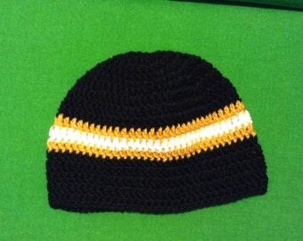 Black Gold crochet hat