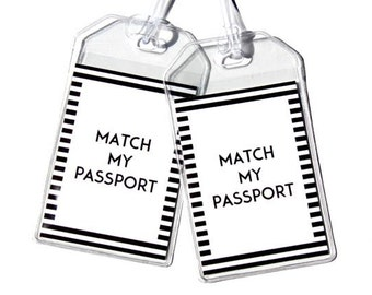 Set of 2 Luggage Tags to Match Your Passport Cover.