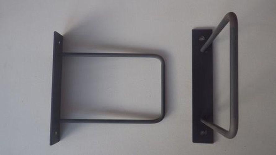 2 supports acier de style industriel pour tag re murale - Etagere murale style industriel ...