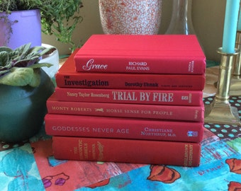 Set of 6 red books