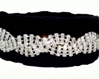 Bracelet with Silver Diamonds & Black Texture