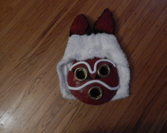 Princess Mononoke mask with hood, and ears