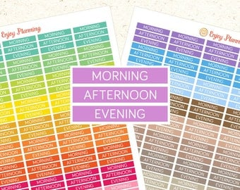 PRINTABLE planner stickers MDN Header Stickers Erin Condren planner Stickers Daily sticker Morning Sticker Afternoon sticker Evening sticker